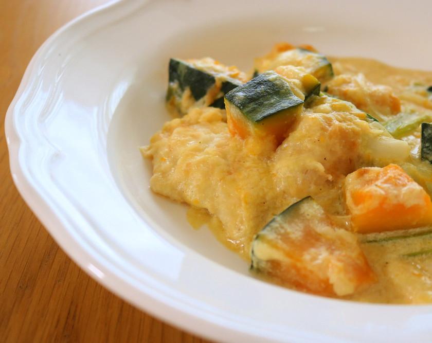 簡単!白身魚とカボチャのクリーム煮☆