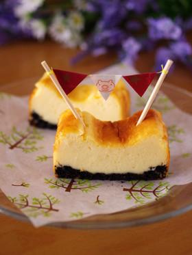 HMで簡単混ぜて焼くだけ本格チーズケーキ