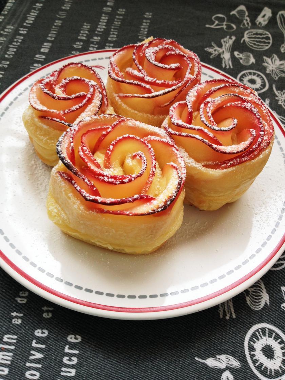 簡単!!りんごの薔薇とカスタードのパイ