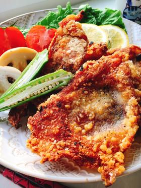 低糖質おやつ下味つけてパリサク鶏皮唐揚げ
