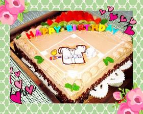 野球少年のバースデーケーキ