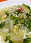 小松菜と卵と野菜たっぷりコンソメスープ☆