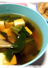 短時間で簡単☆醤油味のお豆腐汁