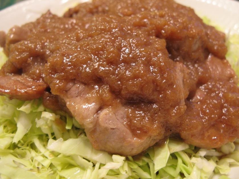 豚ヒレステーキ☆玉ねぎソース