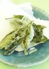 季節の味☆お茶の葉の天ぷら