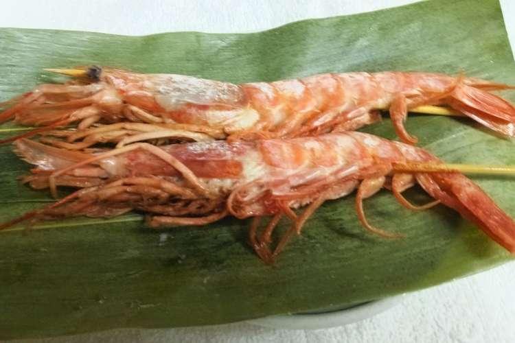 簡単赤海老の塩焼き レシピ・作り方 by たくまぷーすけ 【クックパッド】