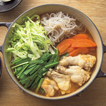 手羽元の韓国風ピリ辛鍋
