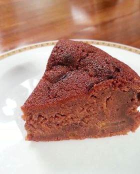 柚子ママレード入りのチョコレートケーキ