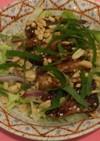 塩豚とピーナッツのサラダ