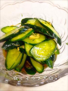 簡単!生姜と大葉できゅうりのパパッと漬け