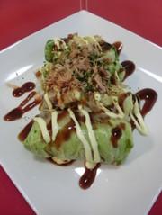 ⑥ 餃子のお好み焼き風 ⑥の写真