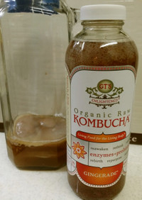 ラズベリージャムで紅茶キノコの2次発酵