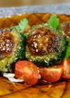 ゴーヤのふわふわ豆腐バーグ