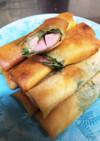 簡単  魚肉ソーセージの春巻き