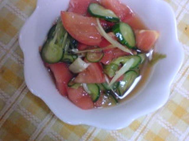 きゅうり トマト 酢の物