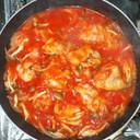 鶏もものトマト煮♪簡単煮るだけ夕食お弁当
