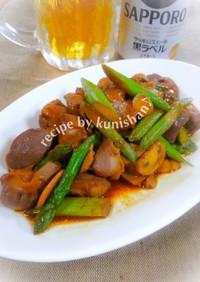 砂肝の甜麺醤ラー油炒め♪