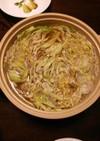 簡単♪豚バラとキャベツの元気鍋(^^)