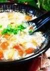 超低カロリー♪なめこと卵白の中華風スープ