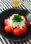 トマトとオニオンスライスのサラダ