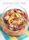 鶏と夏野菜のさっぱりマリネ