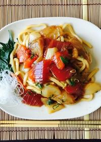 簡単♬海鮮サラダうどん