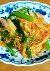 小松菜と春雨のキムチ炒め