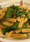 茎ブロッコリーとアンチョビのパスタ