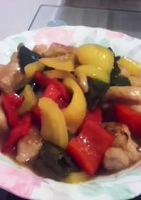 ボリューム満点!鶏モモと野菜の黒酢あん