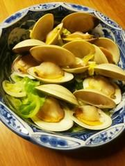 ホンビノス貝とキャベツDE酒バター蒸し♪の写真