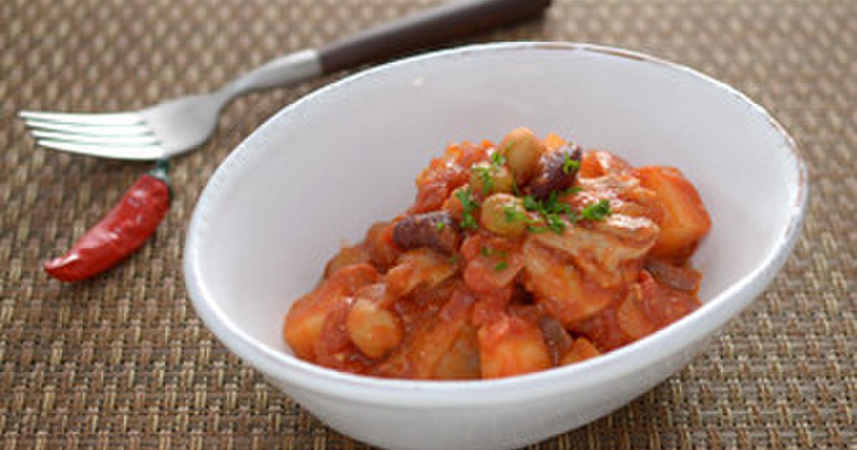 妊娠、授乳に!チキンと豆の味噌トマト煮 by 月とみのり ...