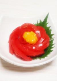 椿の黄身酢トマト☆おもてなし
