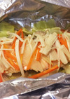 フライパンで鮭ホイル焼き☆にんにくバター