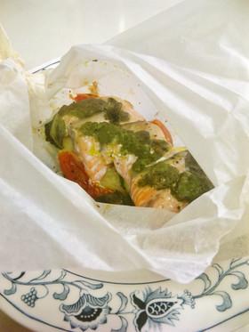 バジル香る~✿鮭と旬の野菜のカルトッチョ