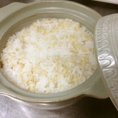 土鍋で簡単♬一合+もち麦でダイエット♬