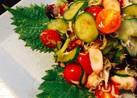 蛸&胡瓜&トマトの カリジャコ和え
