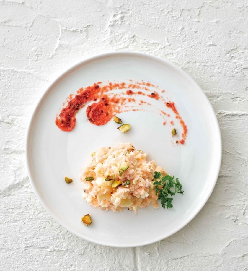 梅昆布めんたいの和風ポテトサラダ