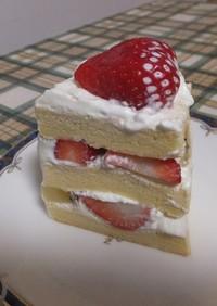 シフォンロール生地で作るケーキ