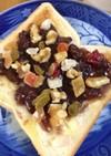 宝石箱☆胡桃と干果物の塩小倉トースト