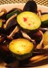 コストコのムール貝に野菜を足して