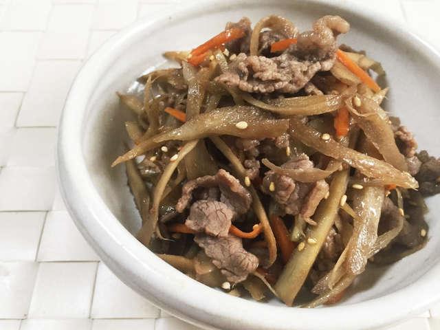 牛肉とごぼうと人参のしぐれ煮。お弁当にも
