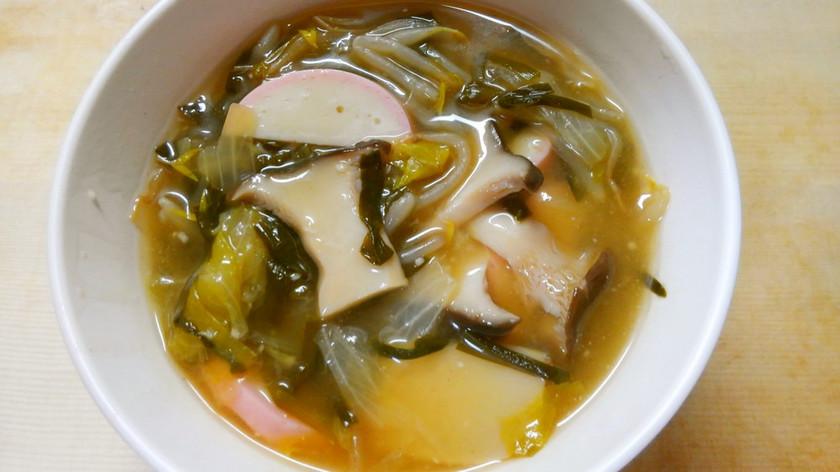 簡単!もやしレタス エリンギの中華スープ