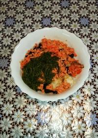 ご飯の替わりに豆腐!鮭フレークネバネバ丼