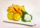 鶏胸肉の天ぷら&ズッキーニの天ぷら☆鶏天