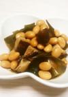 水煮大豆で作る☆椎茸入り昆布豆