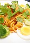 鶏肉入りフジッリのトマトソース