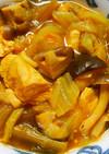 レタス鶏むね肉 アスパラのカレー風スープ