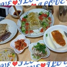 生餃子De初夏に野菜と♥カレー蒸し餃子♥