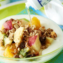 アマニ油deフルーツとヨーグルトのサラダ