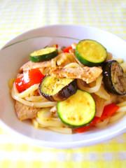 醤油麹で簡単☆たっぷり夏野菜の焼うどんの写真